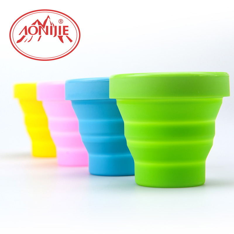 Creative Portable Silicone Retractable Water Bottle 170ML Folded Water Cup Telescopic Collapsible Travel Outdoor Cup TA4002(China (Mainland))