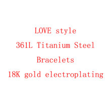 Carter Love Bangles Luxury Classic 316L Titanium steel Bracelets With Screwdriver 316L Titanium steel fashion Screw Bangle(China (Mainland))