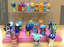 5cm 24pcs/set Anime Cartoon Mini Slugterra PVC Action Figures Toys Dolls Child Toys