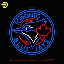 Toronto Blue Jays MLB Neon Sign Neon Bulb Room Recreation Neon Sign Glass Tube Handcraft Gifts Affiche indoor Neon Window 26x26(China (Mainland))