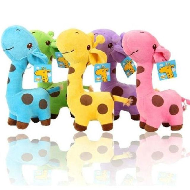 1 шт. унисекс милый подарок плюшевые жираф мягкая игрушка животных дорогой кукла детские малыш ребенок девушки рождество с днем красочные подарки