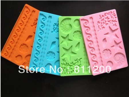 8pcs Very Good quality Silicone star Molds Fondant and Gum Paste Mold/Cake Decoration Mould tool(China (Mainland))