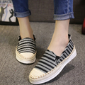 2015 Spring Fall Fashion Flat Shoes White Black Silver Blue Hemp Rope Stripe Loafers Shoes a