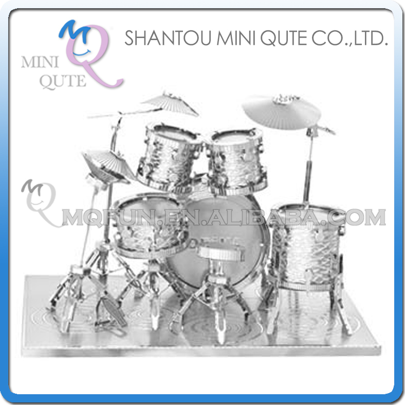 Mini Qute 3D Metal Puzzle Silver Drum Set musical instrument Adult kids collection educational toys gift NO.M22205-2 - Flying Fairy Flagship Store store