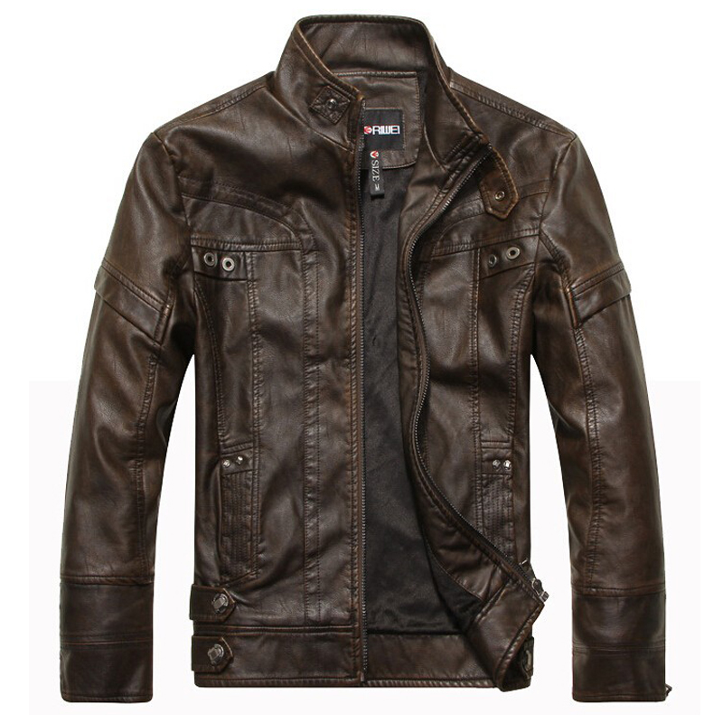 Brand New arrive Brand motorcycle leather jackets men ,men's leather jacket, jaqueta de couro masculina,mens leather jackets