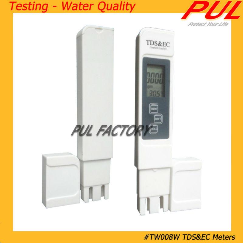TW008W Digital TDS &EC Meters, 0~9999ppm TDS Tester, 0~9990us/cm EC Meter Water Quality Testing Tool(China (Mainland))