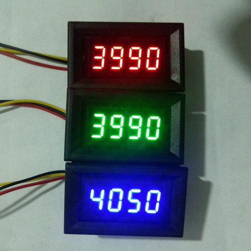 Voiture Auto Haute Luminosité numérique voltmètre tachymètre combo meter réglable fréquence mètre(China (Mainland))
