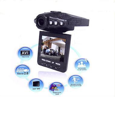 """2013 H198 Portable Car DVR 2.5"""" TFT LCD 270 Degree Rotating Screen HD display Camcorder Night Vision car camera(China (Mainland))"""