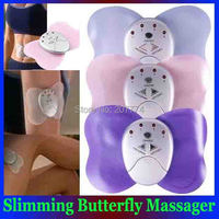 Mini Body Health care beauty Losing Weight Slimming Butterfly Massager Electronic Body Arm Leg chest Muscle Massage Drop Free