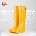 Hellozebra Women Rain Boots England Light knee High Rain Boots Women Candy Color Water Shoes Fall Boots Women Rubber 2017 New