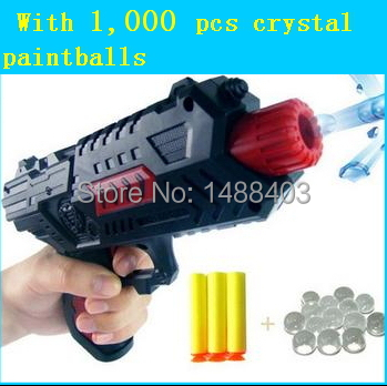 Paintball Gun Pistol & Soft Nerf Bullet Gun Shooting Water Crystal Gun New Model toy guns Free Shopping(China (Mainland))