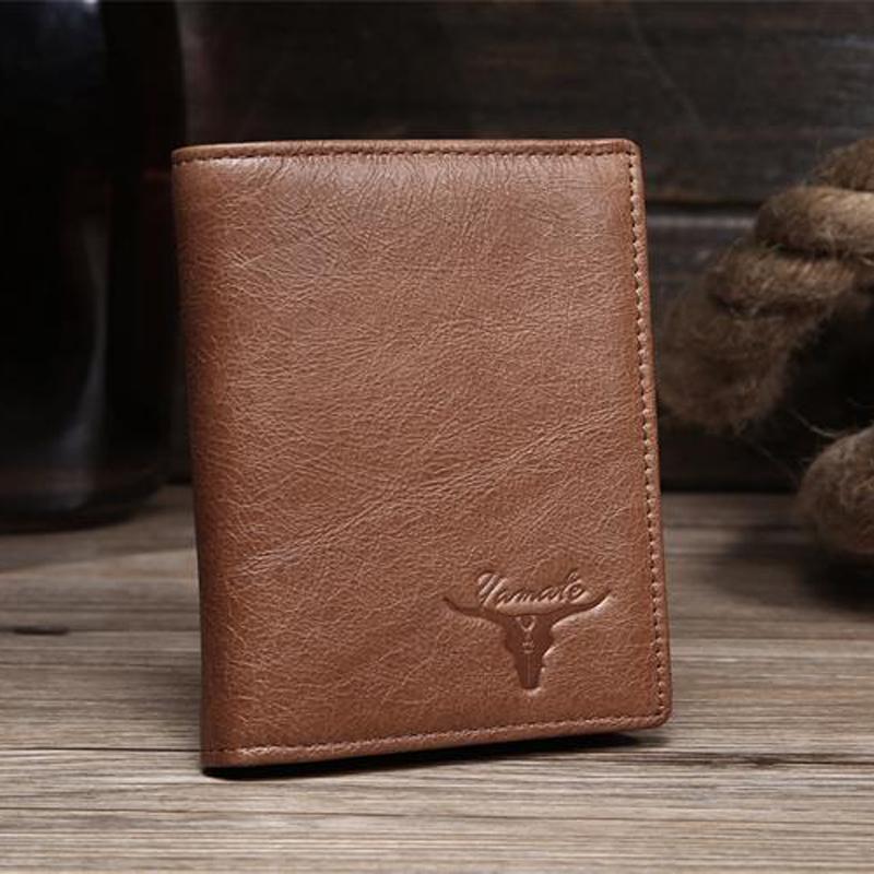 New Design Hot Brand Design Men Wallet Male Purse Genuine Leather Billfold Hight Quality Card Holder Pocket Maschio Portafoglio(China (Mainland))