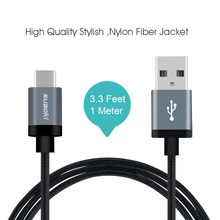Brand Suaoki USB C Charger 3.3 Ft nylon Braided USB Cable 1M/2M with Reversible Connector for Smartphone MP4 Tablet PC(China (Mainland))