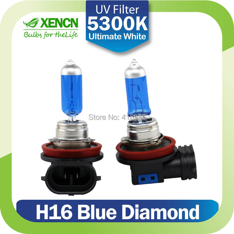 XENCN H16 12V 19W 5300K Blue Diamond Light Upgrade Super White Excellent Quality Bulbs Fog Halogen Headlight Lamp Free Shipping(China (Mainland))