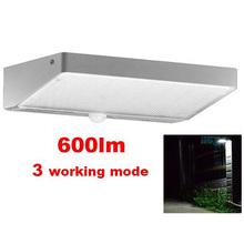 Waterproof 4W 600LM 48 LED Solar Power Street PIR Motion Sensor Garden Security Lamp Outdoor Street  Wall Lights(China (Mainland))