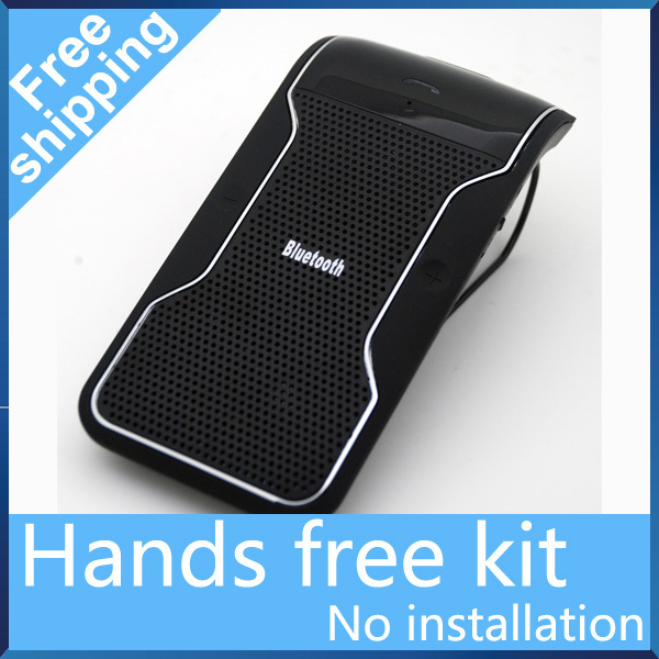 Free Shipping New Wireless car Bluetooth Handsfree Speakerphone Car Kit With Car Charger Bluetooth Hands free Kit manos libres(China (Mainland))