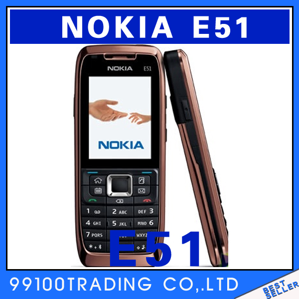 Nokia E51 Mobile Phones WIFI Bluetooth JAVA Unlock Cell Phone Free Shipping Refurbished(China (Mainland))
