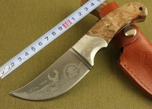 Free shipping African rhino outdoor knife Camping small straight knife Wilderness survival knife Fixed blade