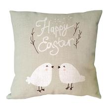 Happy easter printed cushion covers
