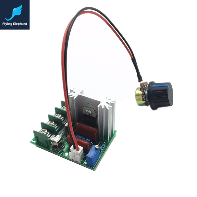 2000W SCR Electronic Voltage Regulator 220V Dimming Dimmer 25A for Lamp Speed Voltage Temperature Control With Fuse(China (Mainland))