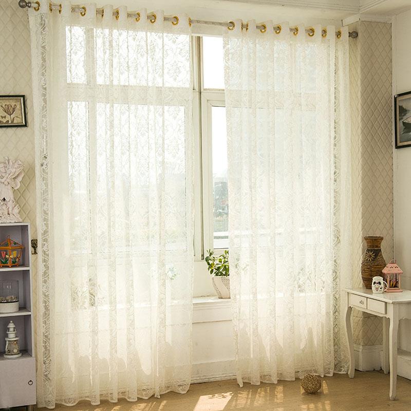 Fresh Elegant Style Jacquard Curtain Decoration Translucent Curtains Living R
