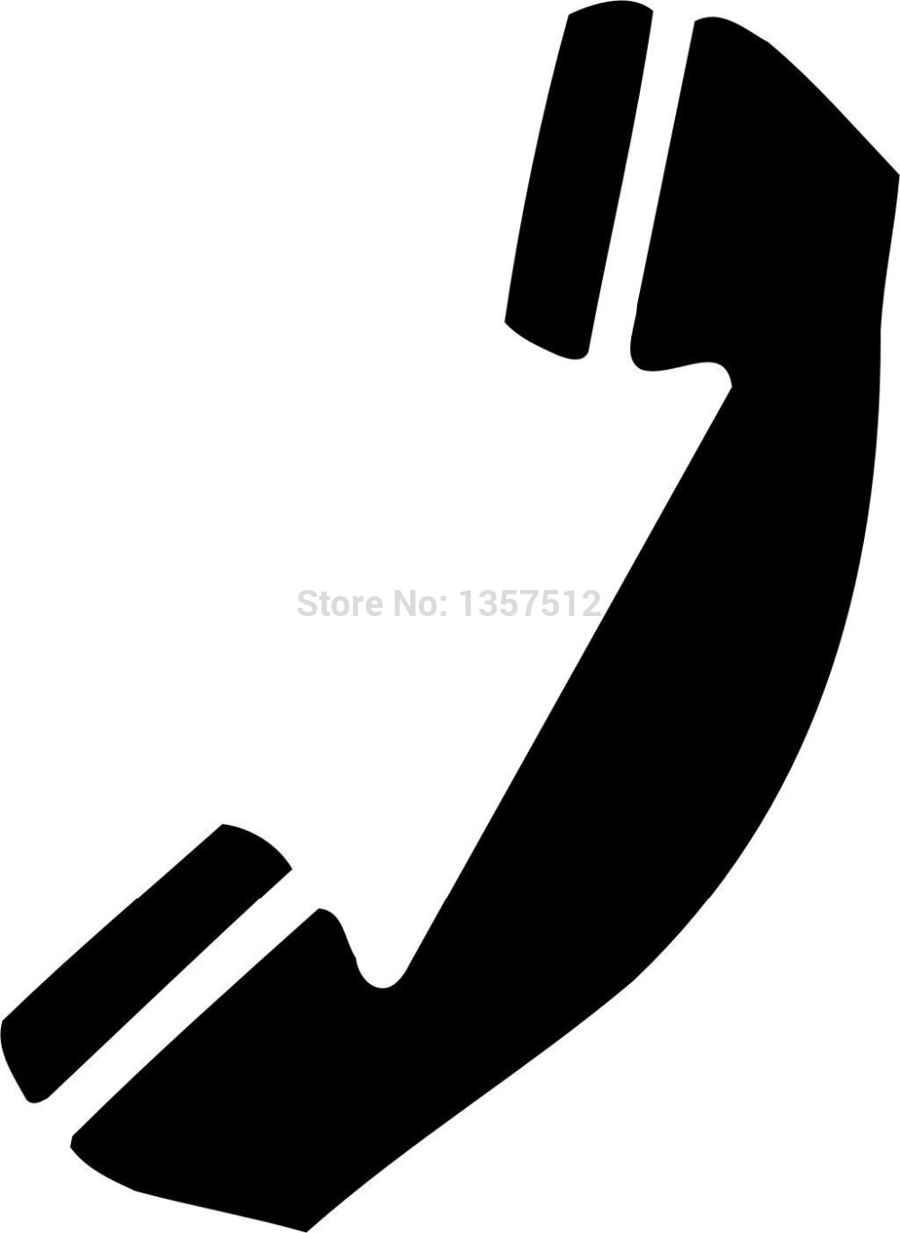 Wholesale 20 pcs/lot Telephone Symbol Car Window Sticker For Truck Bumper Auto SUV Door Kayak Vinyl Decal 8 Colors(China (Mainland))