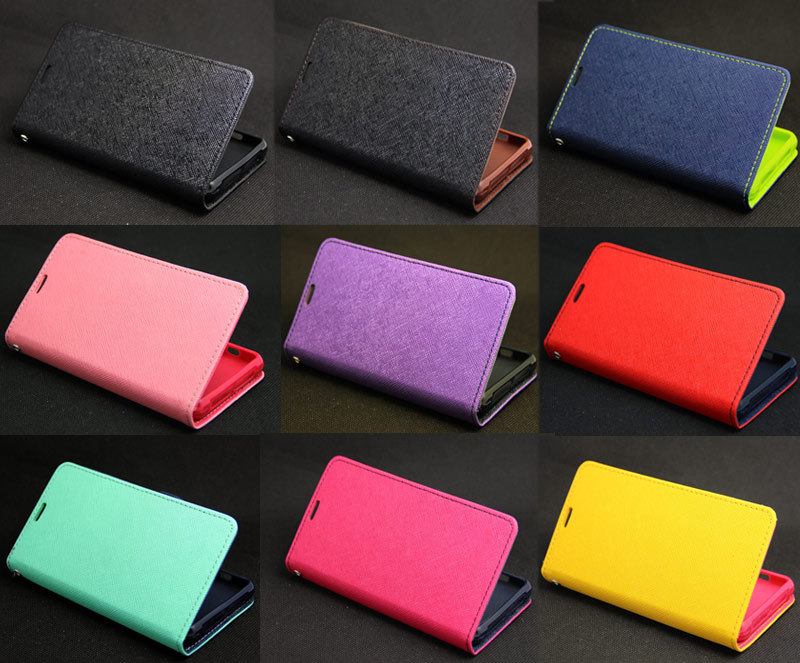 Deluxe Wallet Leather Flip + Tpu Skin Case Cover For Sony Xperia Z1 Compact Mini New Design Hot Sales(China (Mainland))