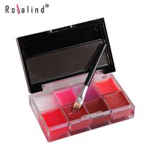 Rosalind Lips Makeup Brand Girl Woman Pro 8 Colors Make Up Lip Gloss Lipstick Cream Palette Set Beauty Brand Love Alpha(China (Mainland))