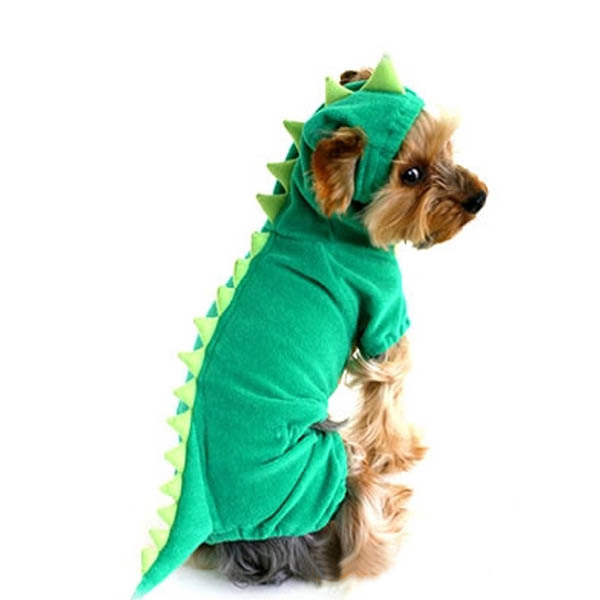 Dinosaur Dog Pet Halloween Costume XS S M L XL Pet Dogs Green Coat Outfits(China (Mainland))
