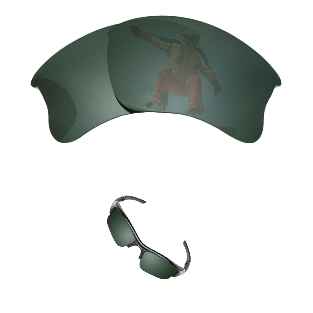 oakley half jacket replacement lenses black iridium polarized yms5  oakley flak jacket replacement lens
