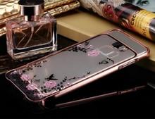 Samsung galaxy S7 S6 Edge Plus Note5 G530 A3 A5 A7 J1 J3 J5 J7 2016 electroplate Metal frame diamond Rose Back Covers Case - Nelo Trading Co., Ltd. store
