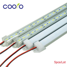 LED Bar Lights White Warm White Cold White DC12V 5630 5730 LED Rigid Strip LED Tube with U Aluminium Shell + PC Cover 5pcs/lot(China (Mainland))