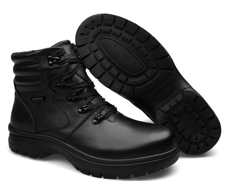 Plus size 51 52 53 winter men shoes warm plush fur boots genuine leather men winter boots 2016 mens big size winter boots