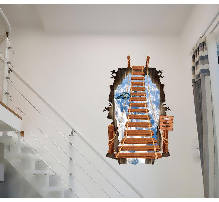 3d Ladder Wallstickers For Kids Living Room Wallpaper Art