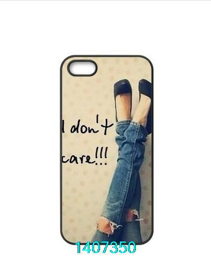 ShenYu First Design Funny I don't care quote mobile phone Case for iphone 4 4s 5 5s 5c(China (Mainland))