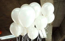 Free Shiping 100pcs/Lot 10 Inch 1.2g White Balloon Helium Inflable Snow White Party Wedding Balloons Ball(China (Mainland))