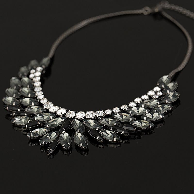 2015 New Fashion Brand luxury Crystal Necklaces & Pendants eyes Resin choker statement necklace women jewelry(China (Mainland))