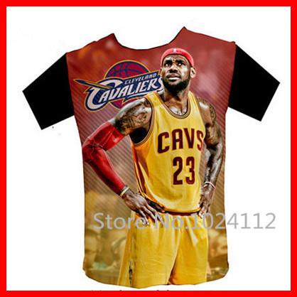 2015 LeBron James Dunk Basketball Star Commemorative Men Novelty T Shirt Tee Shirts Short Sleeve Sweatshirt 3D Graphic Print New(China (Mainland))