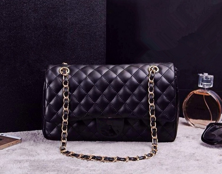 Classic brand Genuine Leather women handbags diamond lattice lambskin Hot fashion luxury high-end chain Shoulder bags(China (Mainland))