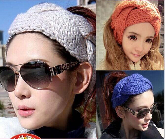 Trendy New Crochet Twist Knitted Headband Winter Warmer Hair Band Stylish Hair Accessories Free Shipping L01(China (Mainland))