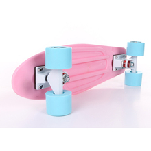 "Pastel Skateboard Plastic Longboard  Mini Cruiser 22"" Retro Skate Board Complete No Assembly Required(China (Mainland))"