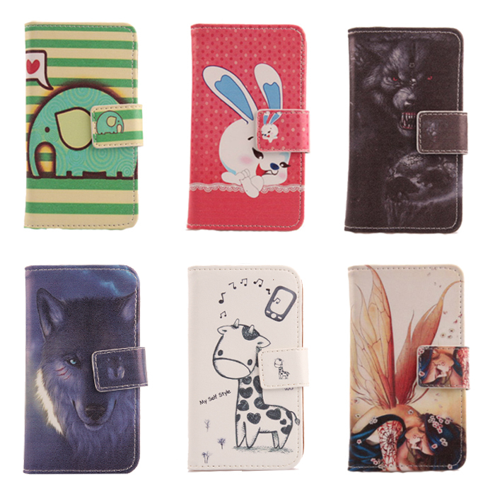 1X Case For Vodafone Smart first 6 Cartoon Painting Cell Phone Accessory Book Design Flip PU Leather Skin Cover Full Protection(China (Mainland))