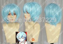 Wholesale price FREE p&P**Evangelion Ayanami Rei Short Blue Cosplay Party Wig