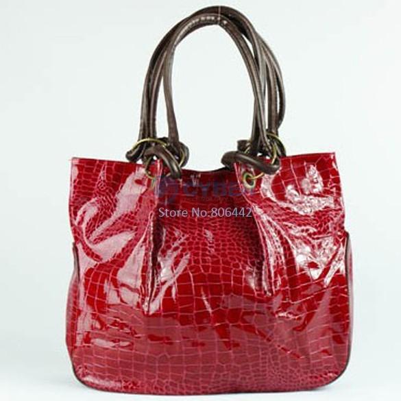 Hot Korea Crocodile PU Leather Purses Women's Fashion Handbag Shoulder Bags