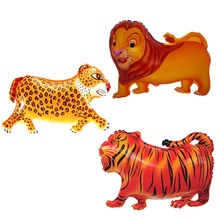 helium foil baby balloon animals cartoon character birthday balloons party supplies leopard tiger lion animal shaped balloons(China (Mainland))