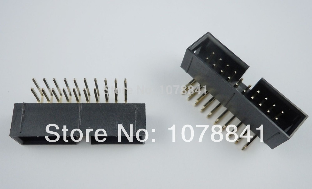 100 Pcs Per Lot 2.54mm 2x10 Pin 20 Pin Right Angle Male Shrouded IDC Box Header Connector от Aliexpress INT