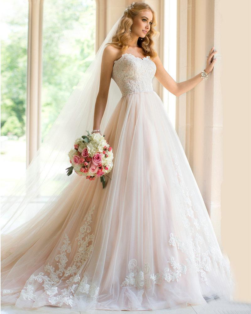Wedding dresses country style princess wedding dress ball for Country style lace wedding dress
