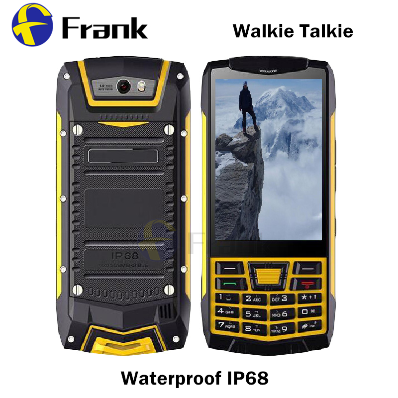 Android 6.0 Button Smartphone IP68 Walkie Talkie waterproof Shockproof NFC GPS WIFI Quad core 1GBRAM 3.5INCH 5MP WCDMA Cellphone(China (Mainland))