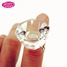 Professional Eyelash Crystal Glue Ring Finger Ring Adhesive Eyelash Extension False Eyelash Pallet Holder High Quality(China (Mainland))