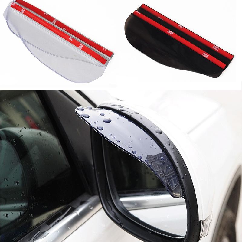 Гаджет  2pcs/pair Car styling universal Rain Shield Flexible Peucine Car Rear Mirror Guard Rearview mirror Rain Shade Free shipping None Автомобили и Мотоциклы